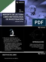 REPORTE DE LECTURA  LIBRO METODOLOGÍA DE INVESTIGACIÓN