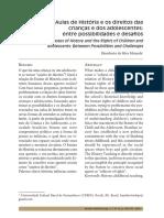 Aulas de História e os direitos das crianças e dos adolescentes - entre possibilidades e desafios - Humberto da Silva Miranda