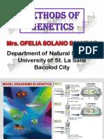 METHODS OF GENETICS