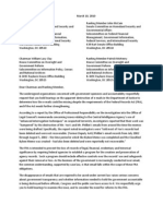 2010-03-10 - Group Letter Calling for Congressional Hearings on DOJ's FRA Violations