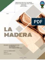 MATERIALES NATURALES - LA MADERA