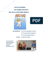 Adicciones, repercusion en la infancia. Rol de la auditoria