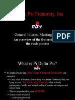 Pi Delta Psi Fraternity Rush 2011