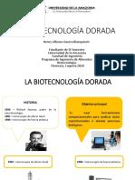 LA BIOTECNOLOGÍA DORADA
