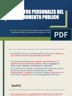 ELEMENTOS PERSONALES DEL INSTRUMENTO PUBLICO