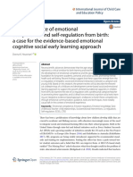 The Importance Of Emotional Competence and self‑regulation from birth
