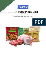 PRICE LIST FROZEN FOOD SUPER 7 AUG 2020