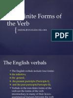 Non-Finite Forms of the Verb