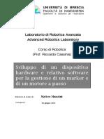 Laboratorio di Robotica Avanzata - Sviluppo di un dispositivo hardware e relativo software per la gestione di un marker e di un motore a passo