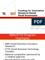SBIR - Seed Capital for Innovative Small BusinessesUpdated 4-4-08