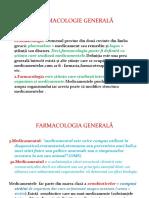 farmacologia generala