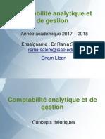 Comptabilité analytique et de gestion PPT Ch1 - Seance 1 et 2