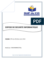 EXPOSE DE SECURITE INFORMATIQUE