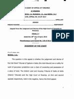 Civil Appeal No.56 of 2017 Sospeter Kahindi  vs Mbeshi Mashini