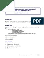 ANIOSTERIL DAC II 1471IS27RT recherche traces amine tertiairem