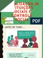 socialização, instituições sociais, controle social