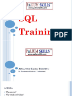 SQL Fundamentals Training by experienced technical consultant