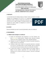 Protocolo de Prevención Del Contagio Por Covid Administrativos