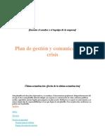 Plantilla de plan para gestion de crisis