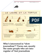 """Who's interested in """"slow journalism""""? Turns out, mostly the same people who are into regular ol' fast journalism » Nieman Journalism Lab"""