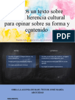 Leemos un texto sobre nuestra herencia cultural para
