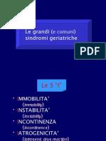 Le grandi e comuni patologie geriatriche