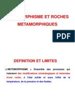 Le Metamorphisme L1BCGS 2017