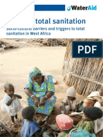 total sanitation socio cultural barriers triggers west africa