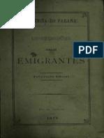Informações para os Emigrantes (Província do Paraná)1875