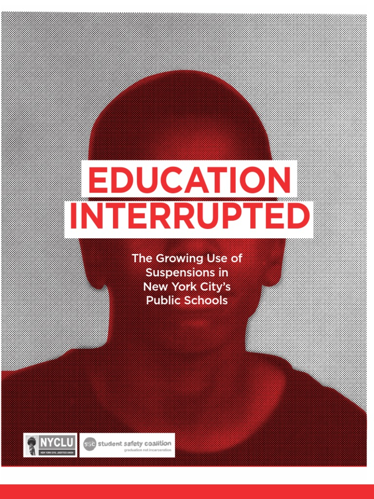 Education Interrupted: The Growing Use Of Suspensions In