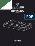 Hotone MP-80 Ampero One -Manual