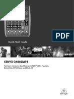 Xenyx QX602mp3 - Quick Start Guide