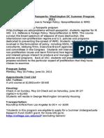 PWP Washington DC Summer Program 2011