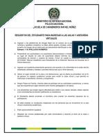 REQUIITOS PARA INGRESAR A LAS AULAS VIRTUALES CURSO 051