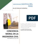 CONCIENCIA MORAL Y LA INGENIERIA CIVIL