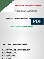 CLASE II -HISTORIA DE LA TOPOGRAFIA