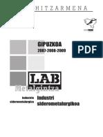 Gipuzkoako industria siderometalurgikorako Hitzarmen Kolektiboa (2007-2009)