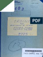 Ordinul Ministrului de Interne nr. II/02091 din 01.10.1975