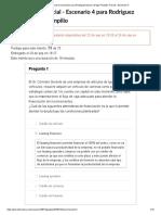 Historial de exámenes para Rodriguez Navarro Diego Pompilio_ Parcial - Escenario 4