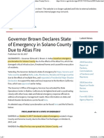 Governor Brown Declares State of Emergency in Solano County Due to Atlas Fire _ Governor Edmund G. Brown Jr