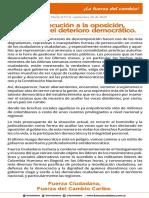COMUNICADO FC DETERIORO DEMOCRÁTICO SEP