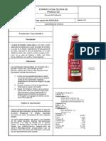 ficha tecnica salsa de tomate