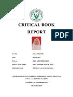 Critical Book Report Pengantar Ilmu Bahasa