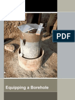 Equipping a borehole