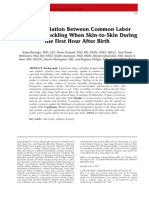 asociation between common labor drugs when skin to skin during first hour after birth 2015