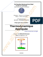 5 Thermodynamique Appliquée - Cours, examens et exercices corriges