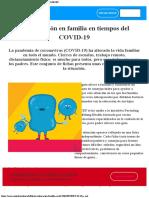 La educación en familia en tiempos del COVID-19  UNICEF