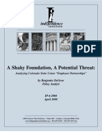 A Shaky Foundation, A Potential Threat