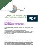 Proyectando la ESI en el Arte 18-7