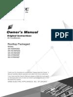 LA R410a inverter Rooftop User's manual[1]